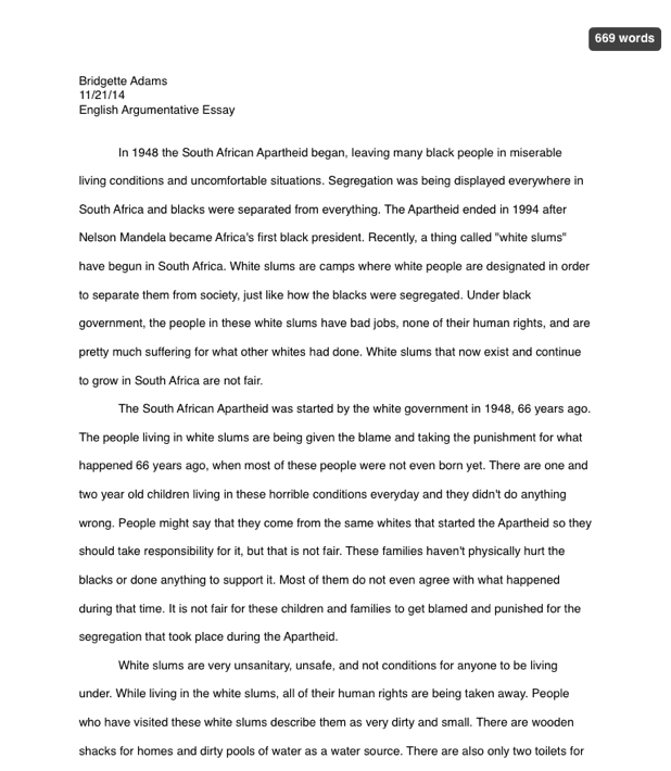 argumentative essay english portfolio